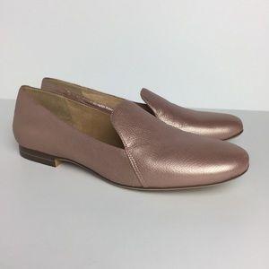 NATURALIZER 'Emiline' Rose Gold Leather Loafer